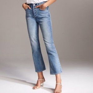 Madewell Kick Out Crop in Thom Wash